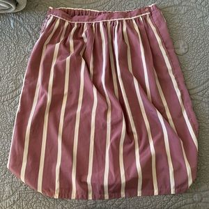 Vintage Purple and white striped skirt